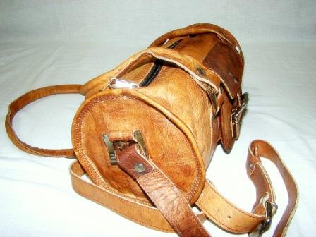 Leather Ladies bag - Leather bag for woman, round Leather Bag