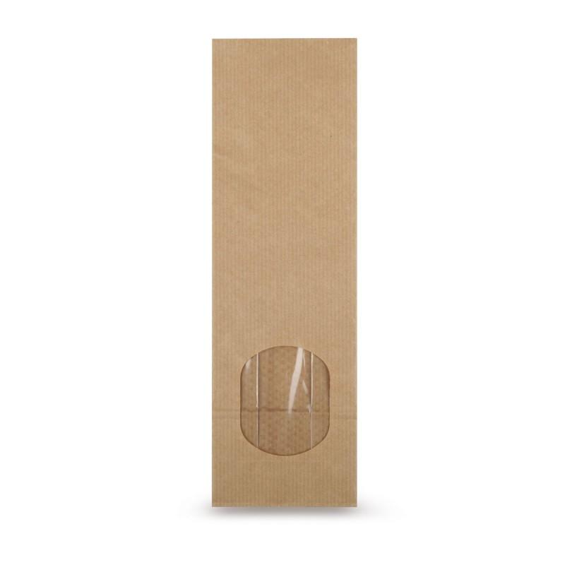 Block Bottom Bags Natron With Window