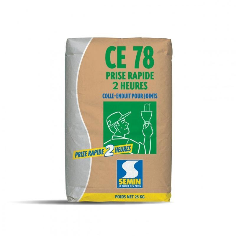 CE 78 2 H - Enduit pour joints de plaques de plâtre temps de prise 2 heures