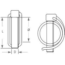 Goupilles - clips - Goupille Clip pour Tubes