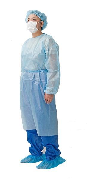 Vestido de aislamiento de PE recubierto con PP - Material: PP recubierto de PE Color: Blanco / Azul / Verde / Rojo / Amarillo Spe