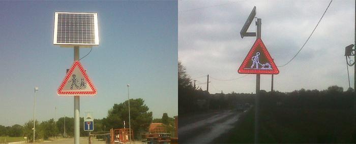 Signalisation lumineuse permanente - Panneaux renforcés à LEDS - null