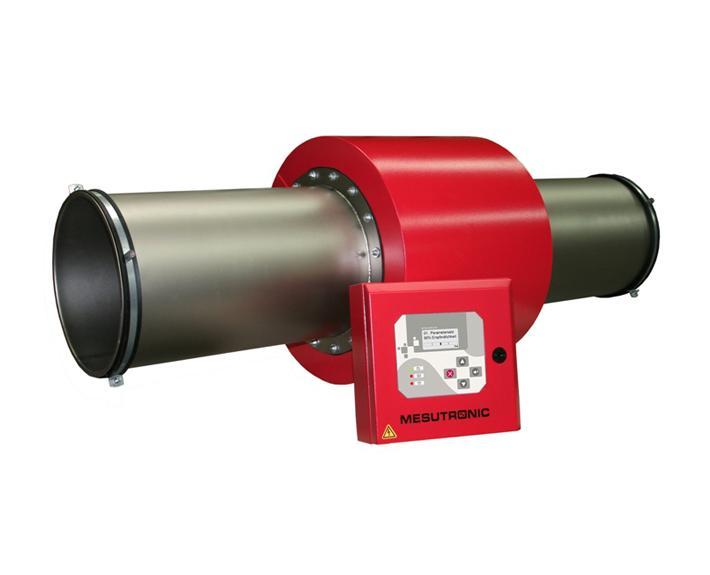 Runder Metalldetektor zum Einbau in pneumatische