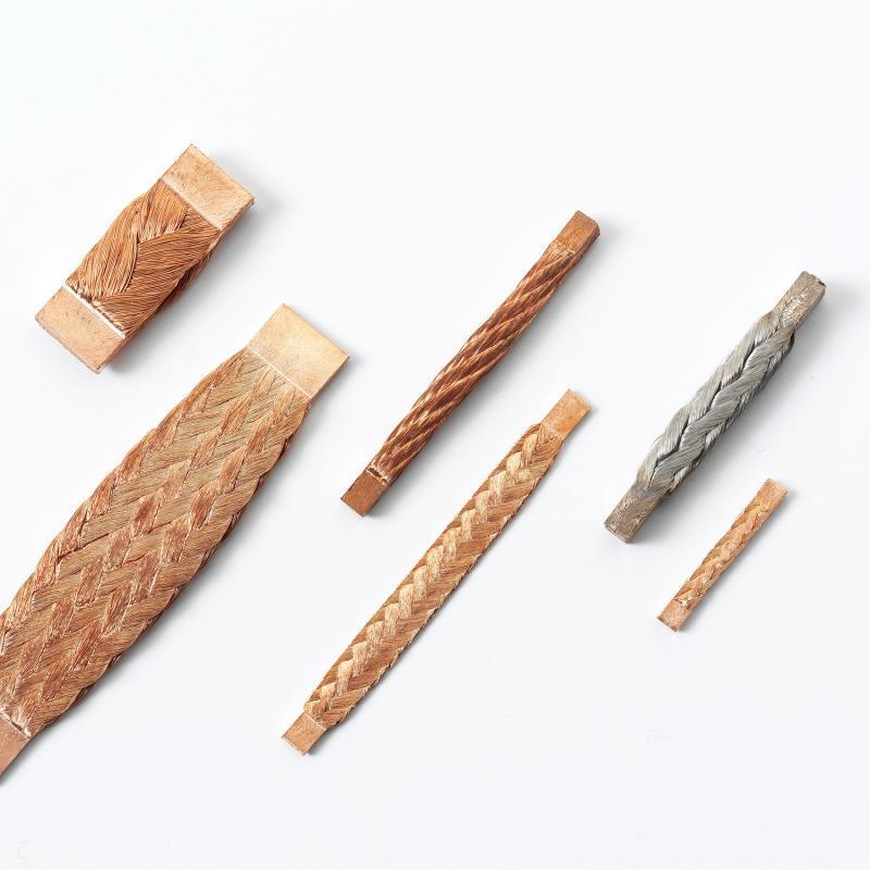 Widerstandsgeschweißte Litze - An den Enden kompaktierte Kupferlitzen-Abschnitte mit definierten Parametern