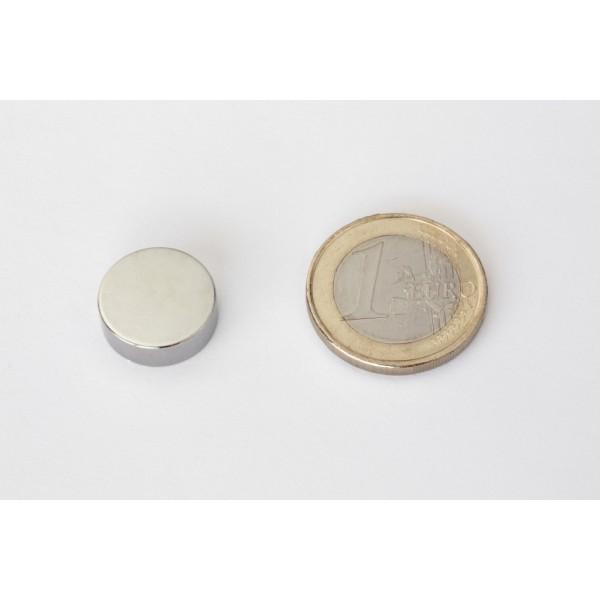 Neodymium disc magnet 15x5mm, N42, Ni-Cu-Ni, Nickel coated - Disc