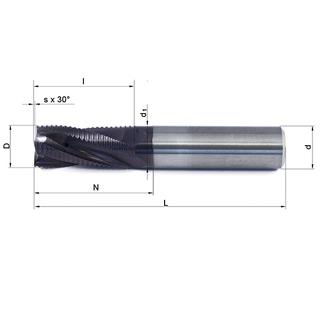 Vollhartmetallfräser VHM 349W-04 TS35 - null