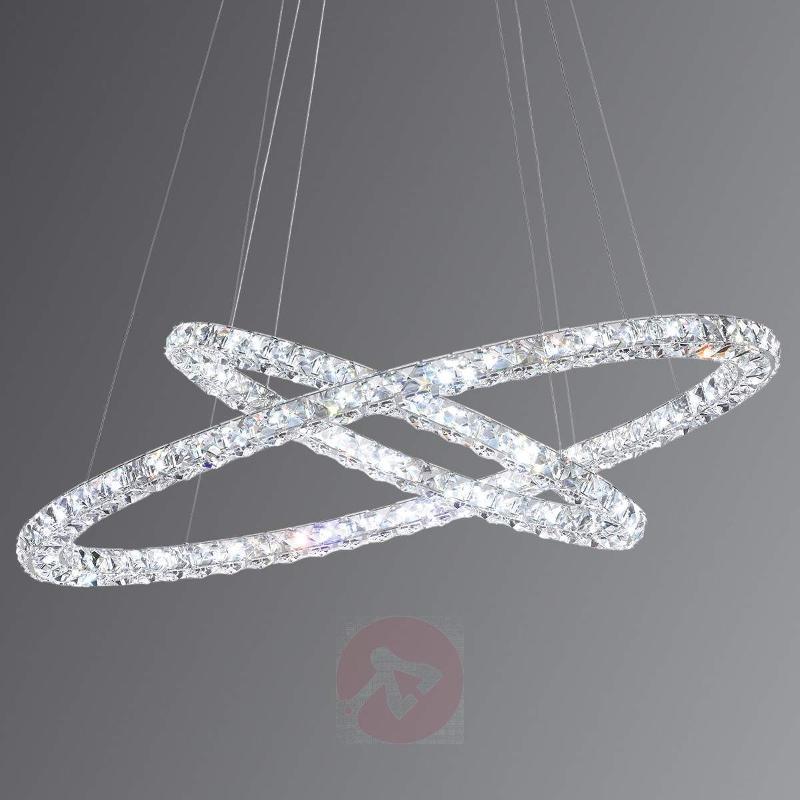 Radiant LED hanging light Toneria 2-bulb - Pendant Lighting