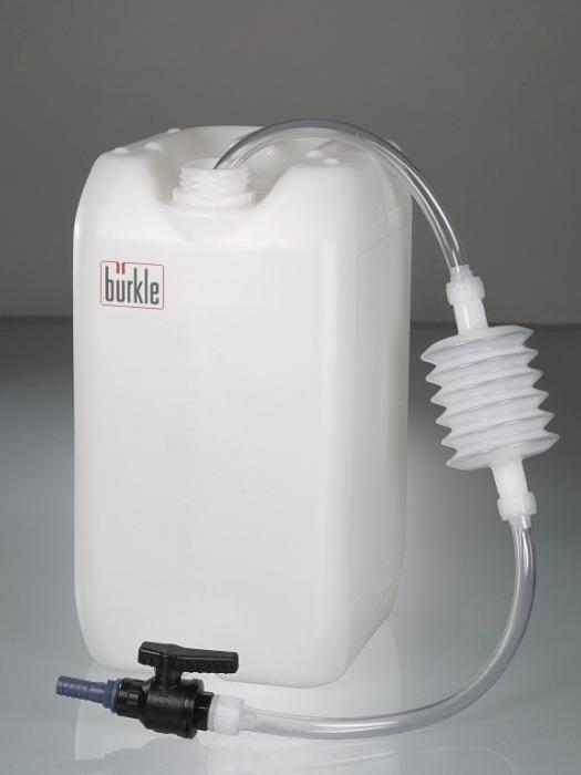 Sifón de aspiración con grifo de rótula - Bomba, rellena rápidamente los líquidos de los contenedores más altos
