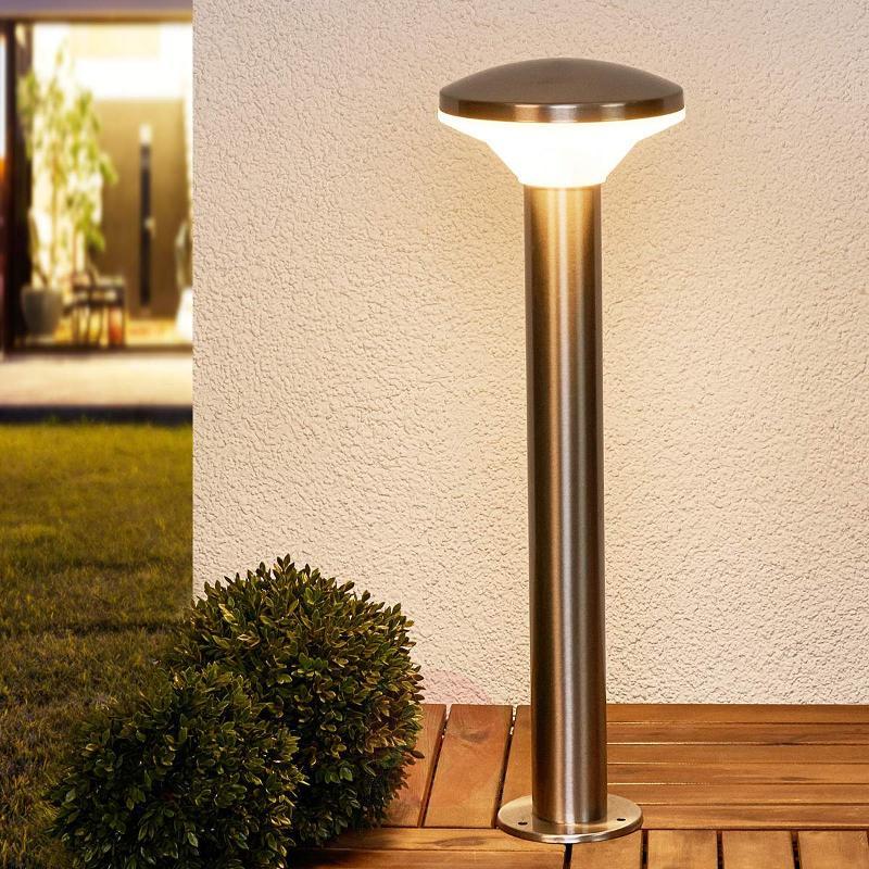 Stainless steel pillar lamp Jiyan with LED - Pillar Lights
