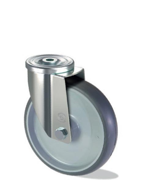 Roue en gomme thermoplastique avec âme en polypropylène -