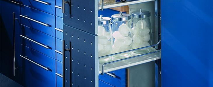 Insert trays For pull-outs and carousel shelves - Insert trays for larder unit with pull-out interior 300 white 698