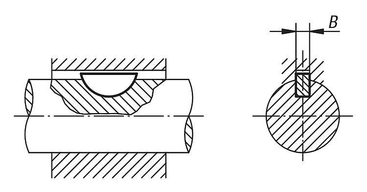 Clavette disque DIN 6888 - Cales parallèles, lardons goupilles cylindriques