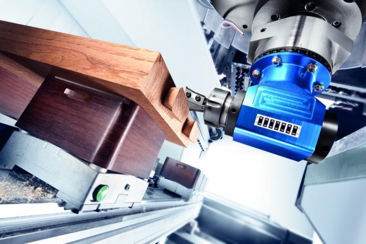 Zweifachwinkelkopf DUO - CNC Aggregat / Winkelkopf mit 2 Werkzeugaufnahmen zur Bearbeitung von Holz