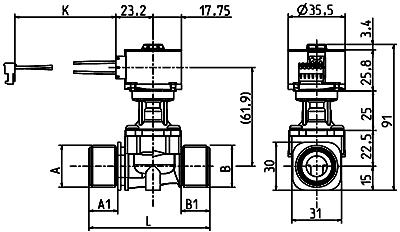 Servo-direct stepper motor controlled valve, DN 10 - 10.010.126 - sds