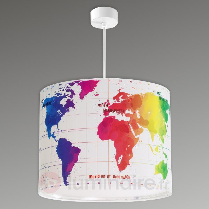 Suspension Map avec carte du monde pour enfants - Chambre d'enfant