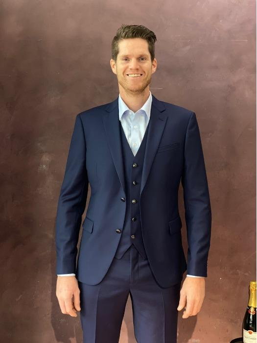 Made to Measure Suit with Vest - High end quality - Blue Made to Measure Suit
