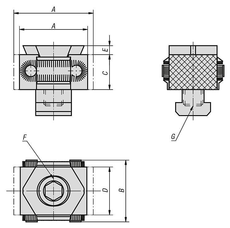 Mors de serrage faces d'appui striées - Crampons, mors de serrage, vis et écrous de serrage
