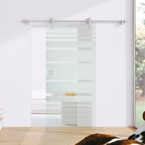 Design Line, wall mounting, incl. soft-close - Kraus sliding door set