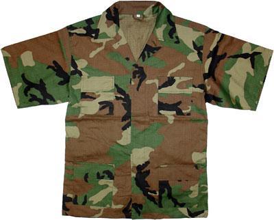 CAMO US RIPSTOP BDU SHORT SLEEVED COMBAT SHIRT - Suits Bodywear