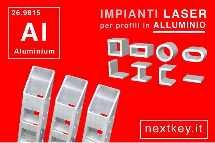 taglio laser tubi in alluminio - materiali non ferrosi, alluminio, rame e ottone