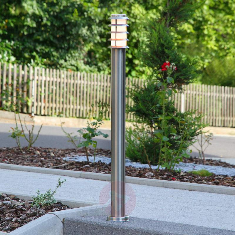 Stainless steel path light Selina with grid - Path and Bollard Lights