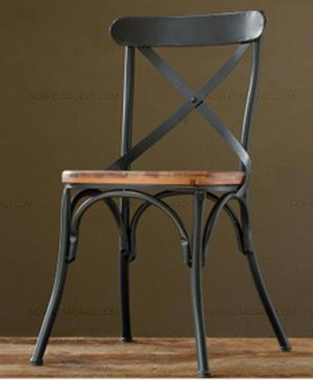 стул-Пол-Лофт - Стул из металла плюс дерево