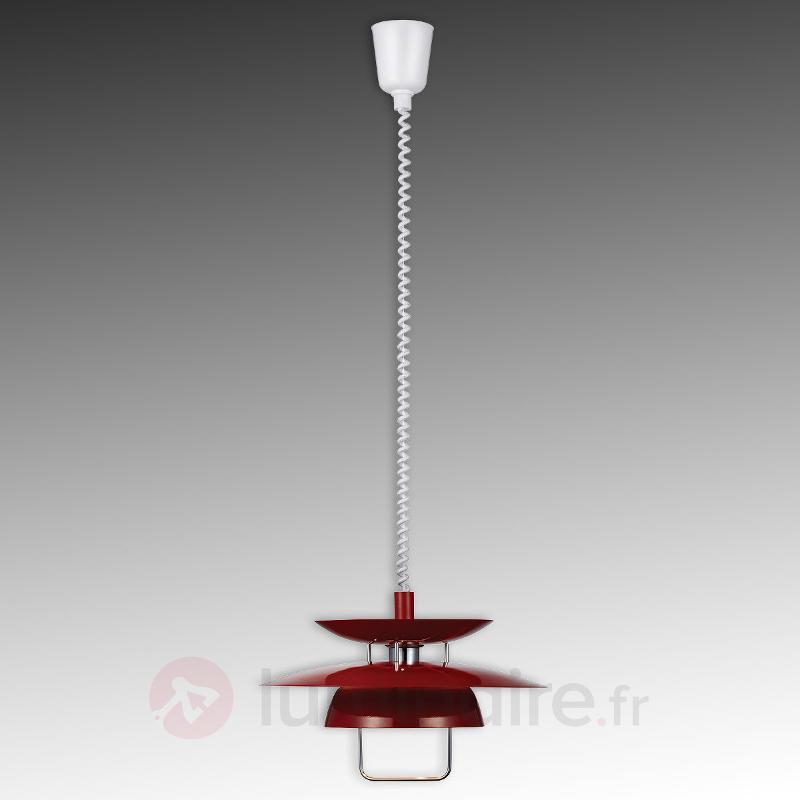 Suspension Berga rouge réglable en hauteur - Cuisine et salle à manger