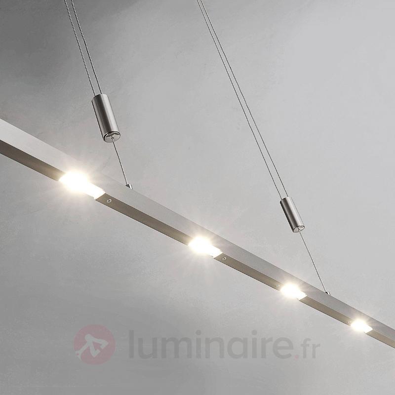 Suspension LED Sina aspect nickel mat 159 cm - Suspensions LED