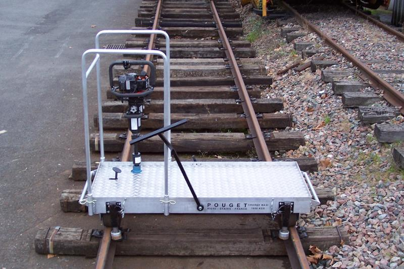 Rail Welding Equipment - Motorized lightweight Platform Trolleys