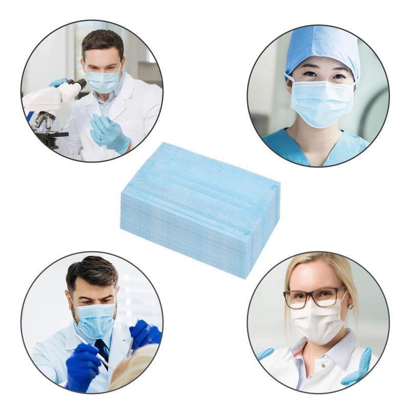 maschera chirurgica  (AZIONE) - maschera chirurgica a 3 slitte per coronavirus anti-romanzo