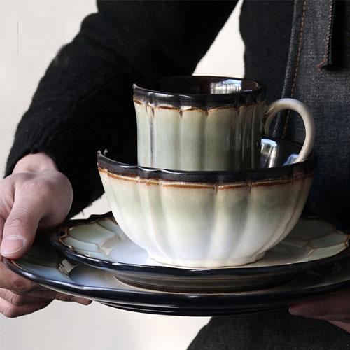 Ceramic Handmade dinnerware Serving dishes Stoneware glaze plate sets - Dinnerware Sets