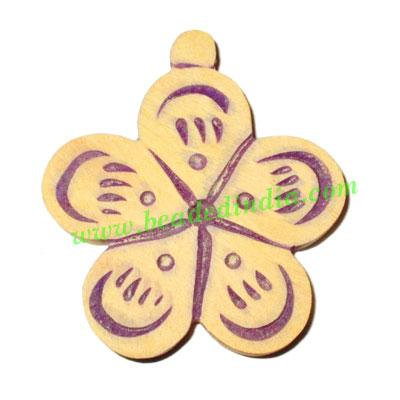 Handmade wooden fancy pendants, size : 48x43x5mm - Handmade wooden fancy pendants, size : 48x43x5mm
