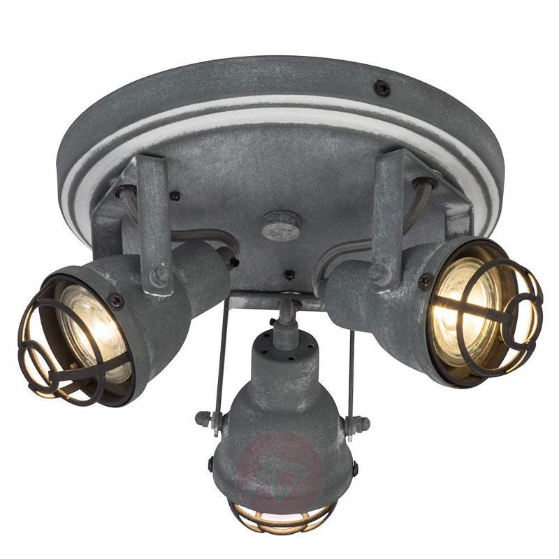 3-bulb industrial LED ceiling lamp Bente - Ceiling Lights