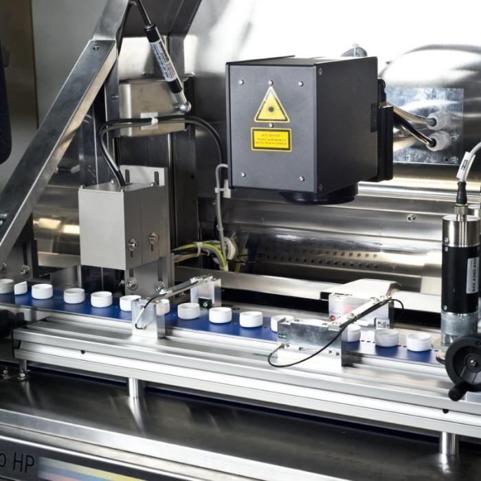 MOF-PROMO HP Sistema láser - Sistema de marcado láser de alto rendimiento para tapas de sellado