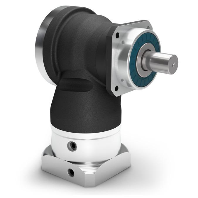 Right Angle Planetary Gearbox WPLN - Precision Gearbox with Output Shaft - Hypoid gear right angle stage - IP65