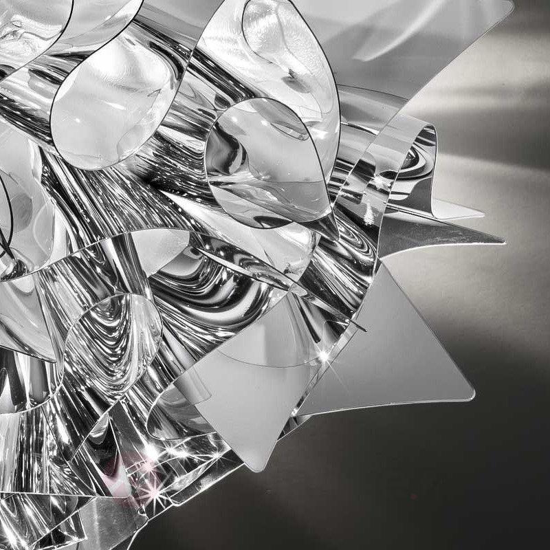 Plafonnier de designer Veli en argenté, 53 cm - Plafonniers design