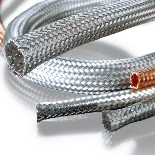 Shielding braid - Shielding braid made from copper and other materials