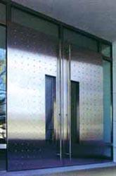 Porta d'ingresso vetro/acciaio