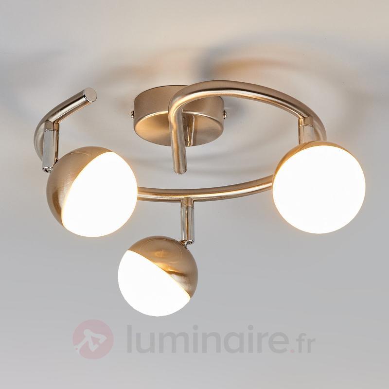 Plafonnier LED Jonne, trois têtes - Spots et projecteurs LED