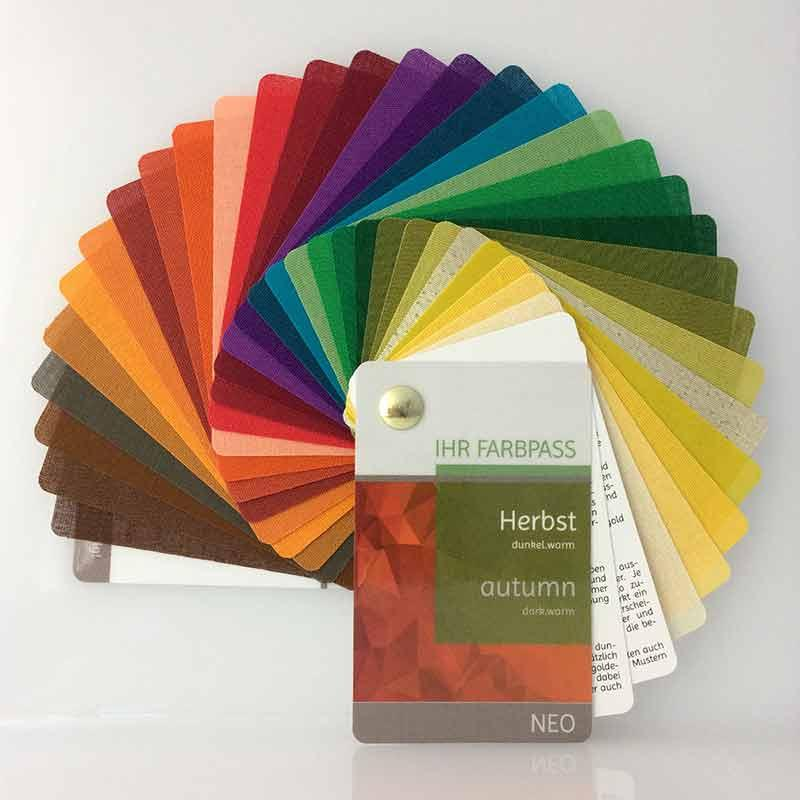 Stoff-Farbpass Neo - Farbtyp Herbst