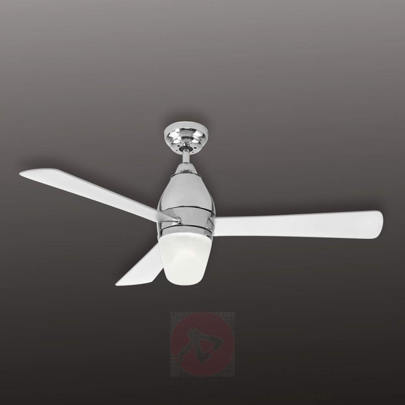 Chrome Renee ceiling fan with light - fans