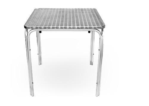 Tables - Bistrotisch 60x60 cm, Edelstahl, 4-füßig