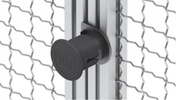 Slam Latch, Sliding door lock, double door - Doors and flaps lock, no mechanical preparation for profile mounting required