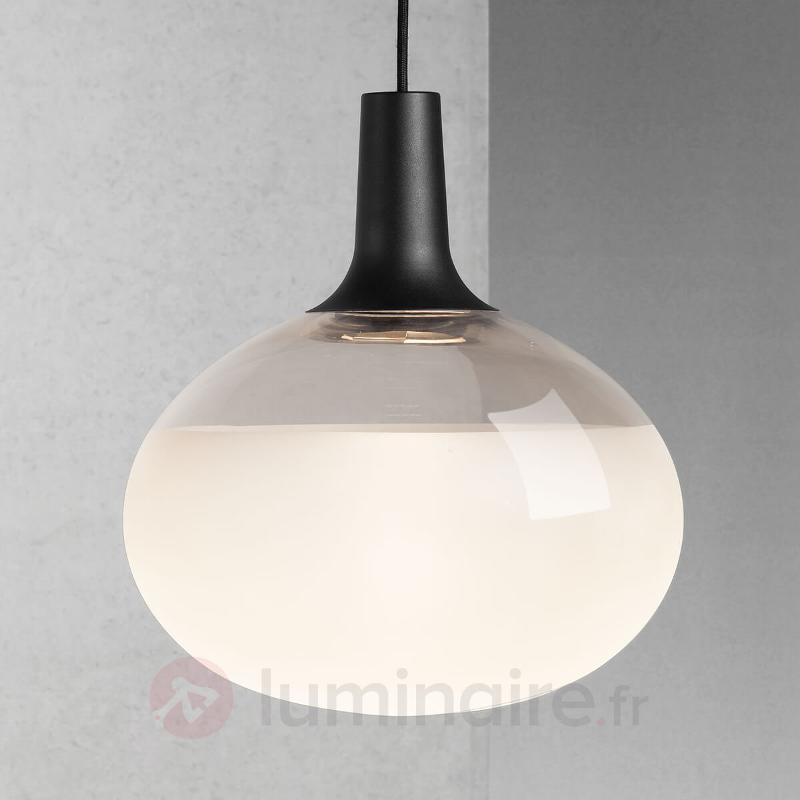 Dee - suspension LED en verre et métal - Suspensions en verre