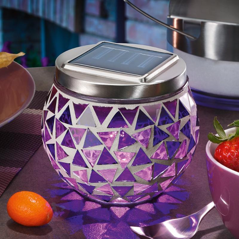 Lampe solaire mosaïque Hanna - Lampes solaires décoratives