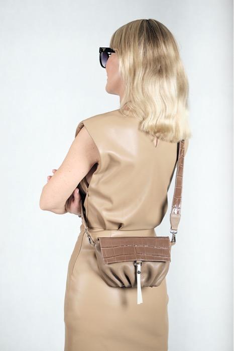 Soft Bag S Camel - Torba skórzana