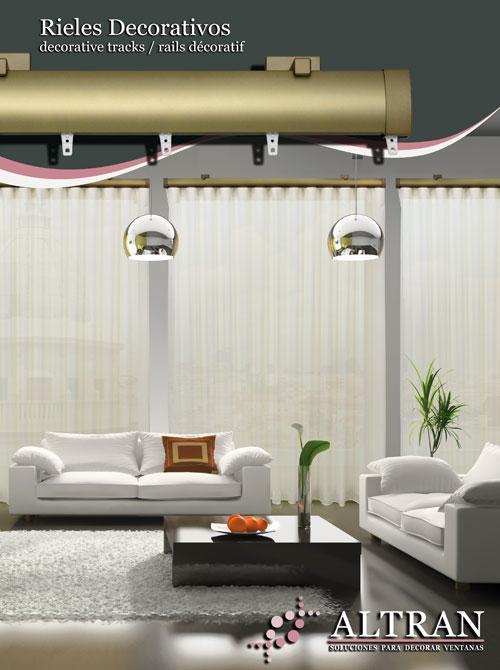 Coimbra y Obidos - Riel decorativo aluminio en 4 colores y opción manual o cordón