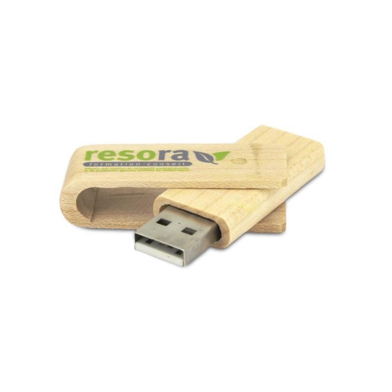 Cle USB Bois Twister - Clé USB Bois & Biodégradable