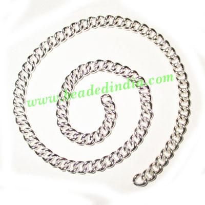 Silver Plated Metal Chain, size: 1x5mm, approx 19.2 meters i - Silver Plated Metal Chain, size: 1x5mm, approx 19.2 meters in a Kg.