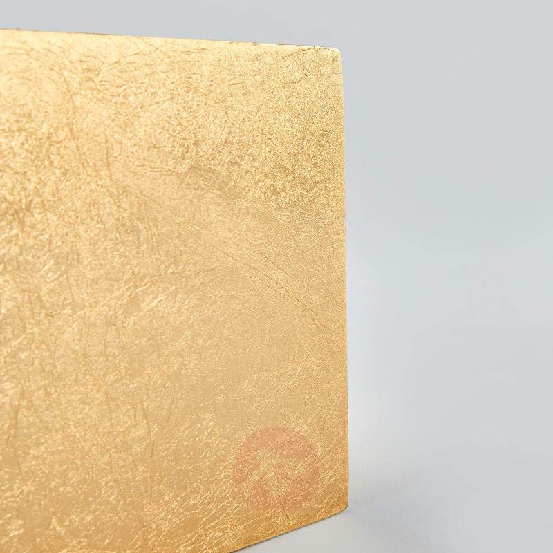 Square LED wall lamp Erica with a gold finish - Wall Lights
